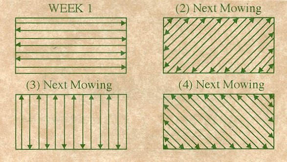 Alternate Mowing Directions