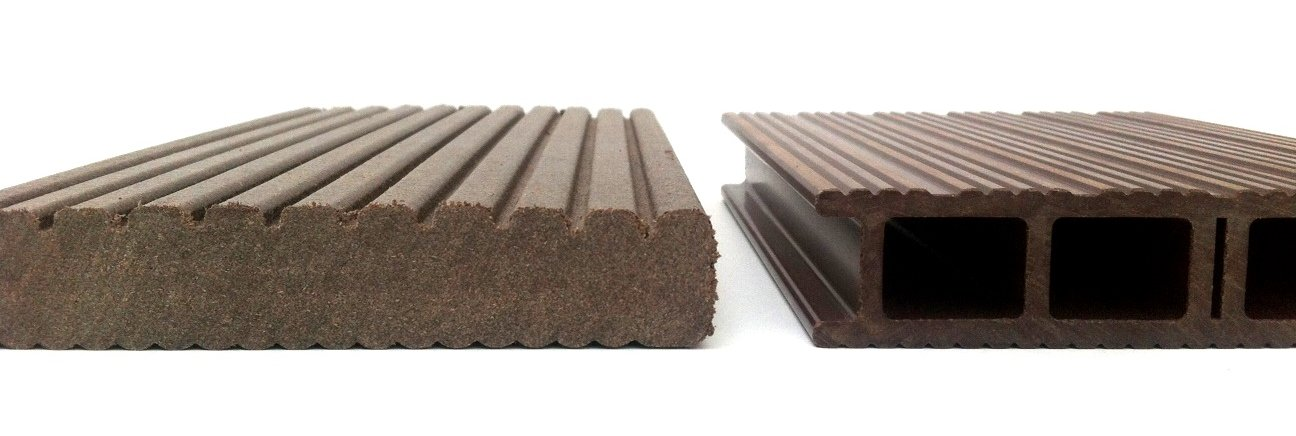 Composite decking types Solid Vs Hollow