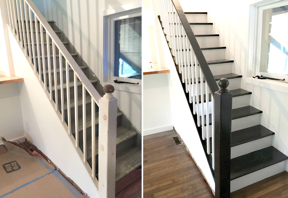 staircase project before & after