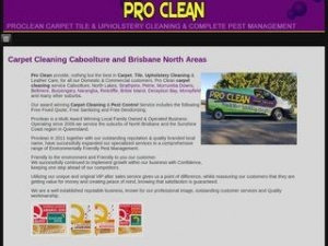 Proclean Carpet Tile and Upholstery Cleaning and Pest Management